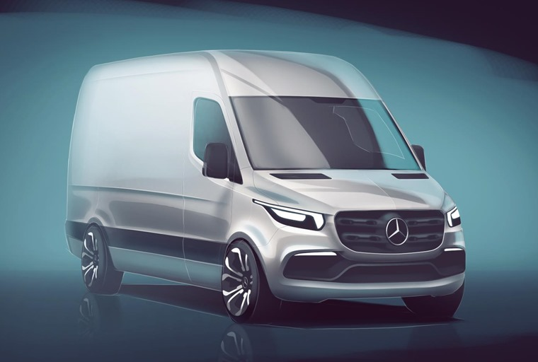 This sketch is closest glimpse yet at the next generation of Mercedes-Benz Sprinters.