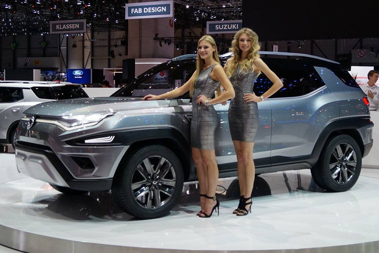 Two ladies (and a Ssang Yong)