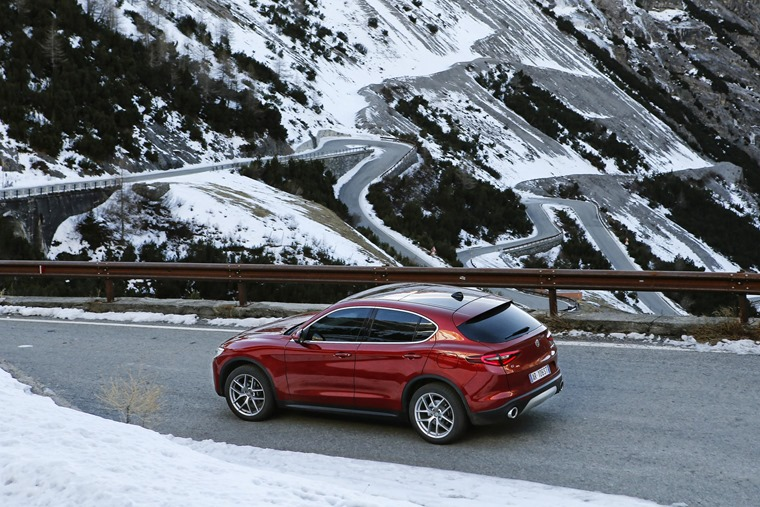 Alfa Romeo Stelvio on the road