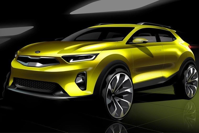 Kia's new Stonic will sit below the Sportage and Sorento when it's revealed in full later this year.