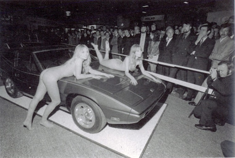 TVR boss Martin Lilley used a naked Helen Jones to garner headlines in the 1970s.