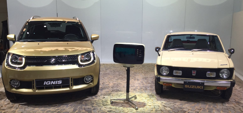 The Ignis is on display in Paris sat next to its ancestor.