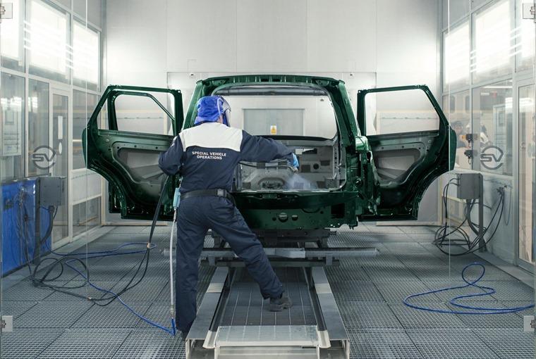 Jaguar SVO paint booth
