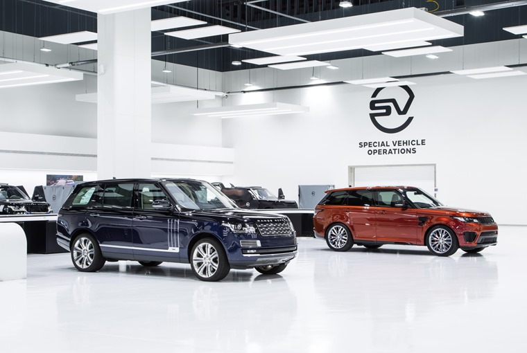 Jaguar Land Rover's Special Vehicle Operations is a facility which allows people to choose their own, personalised specification.