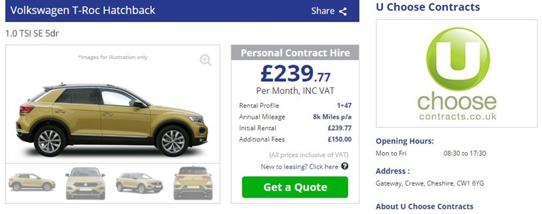 T-roc deal on site
