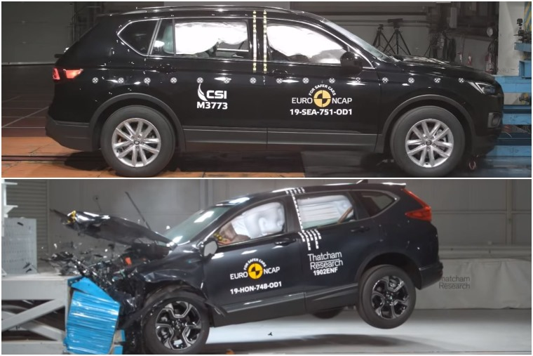 Tarraco (above) and CR-V (lower) crash