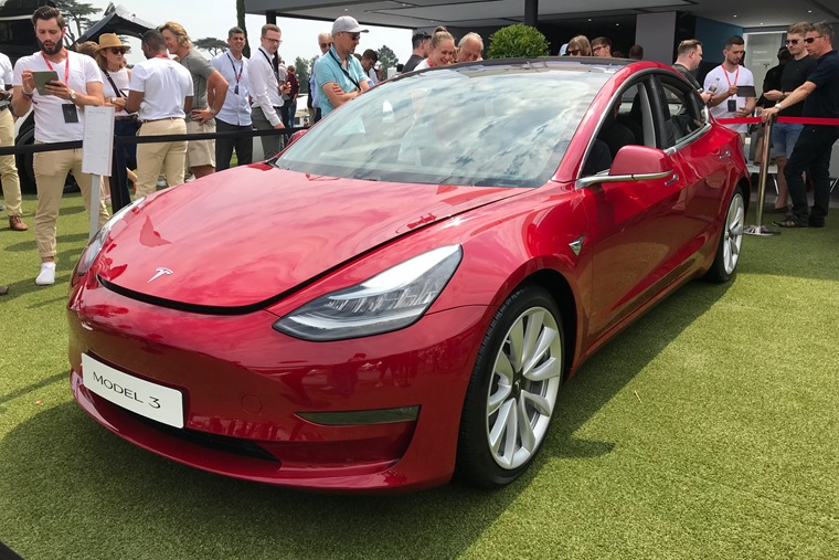 Tesla Model 3 at Goodwood Festival of Speed front