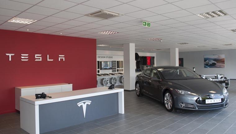 Tesla Model S in dealer