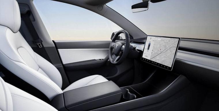 Tesla Model Y interior front
