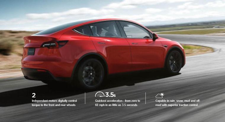 Tesla Model Y rear