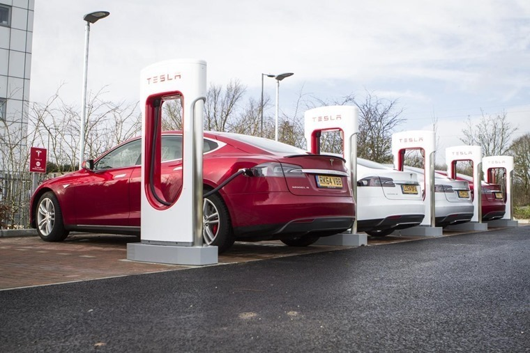 Tesla's supercharger network offers super-quick charging.