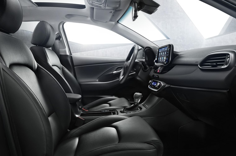 The interior features all Hyundai's latest tech and a host of new driver aids too.