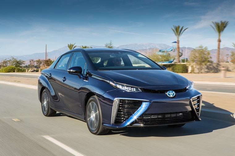 Toyota Mirai 2016 Blue Front Dynamic