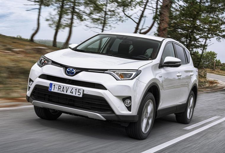 Toyota Rav4 Hybrid 2016 White Dynamic Tracking Front 1