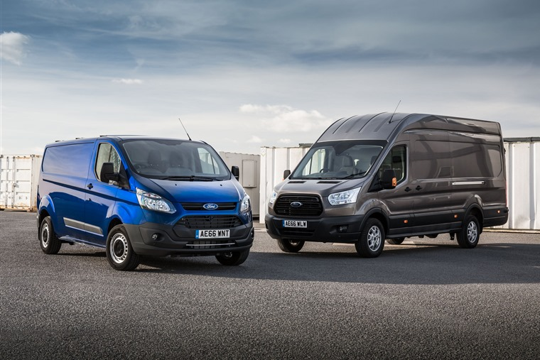 The Ford Transit is the most likely van to be targetting by relay car thieves.