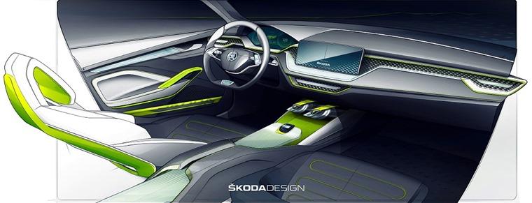 Skoda Vision X concept interior