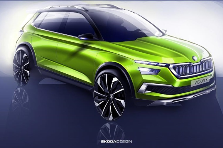 Skoda's Vision X is a concept that gives us a closer look at what we can expect the brand's upcoming 2019 crossover to look like.