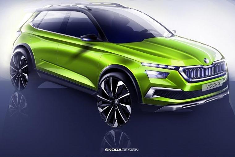 Skoda Vision X concept sketch