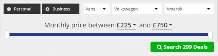 Volkswagen Amarok lease deals