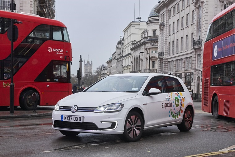 Volkswagen e-Golf and Zipcar 1 (1)