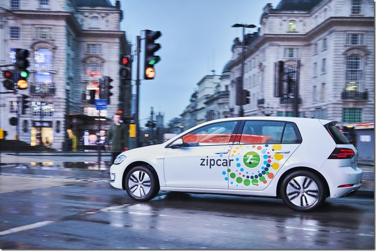 Volkswagen e-Golf and Zipcar 2