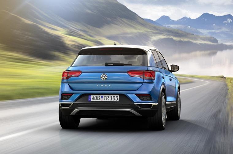 Volkswagen T-Roc on the road