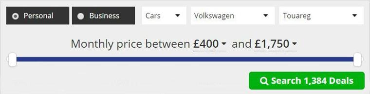 Volkswagen Touareg lease deals