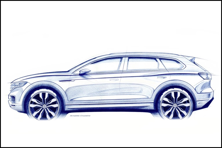 The new Volkswagen Touareg is set to make its debut in Beijing next month (March).