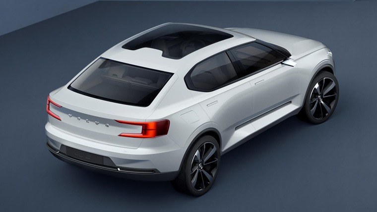 Volvo 40.2 Concept 2016 White Rear Static