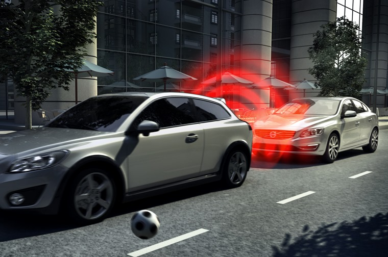 Volvo City Safety AEB system autonomous emergency braking system