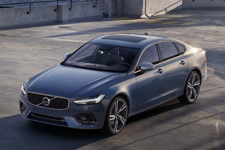 A Volvo S90 just waiting for a new 66 plate.