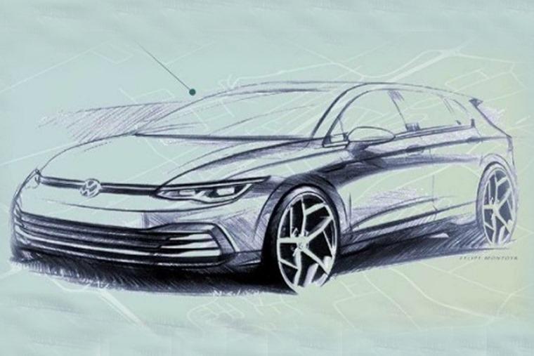 VW Golf 2020 teaser sketch