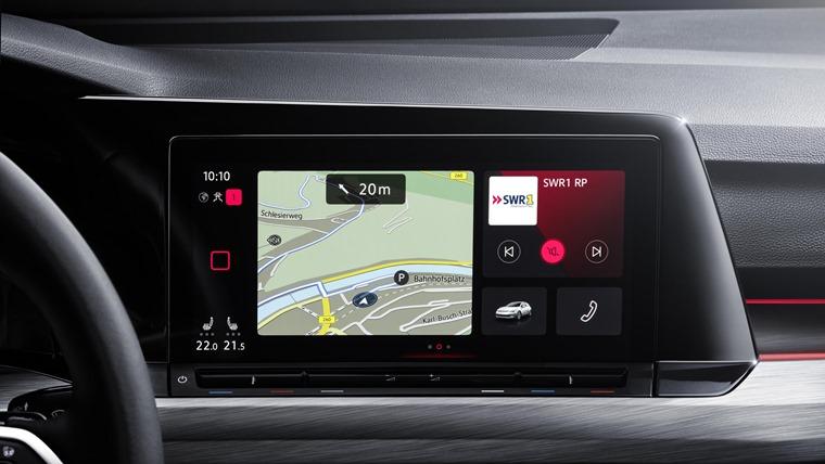 VW Golf 8 infotainment