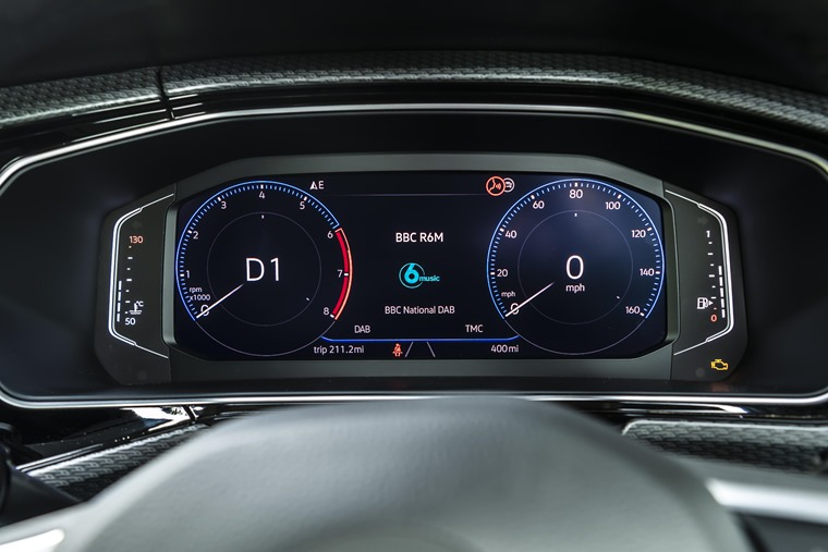 VW T-Cross digital display