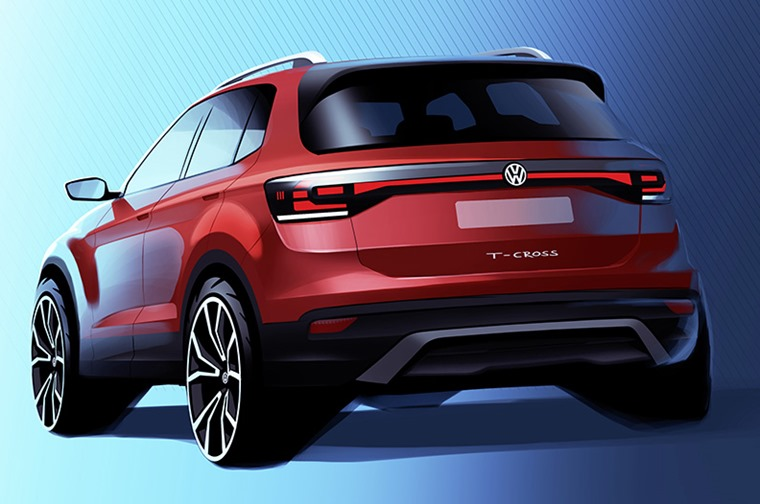 VW T-Cross teaser sketch