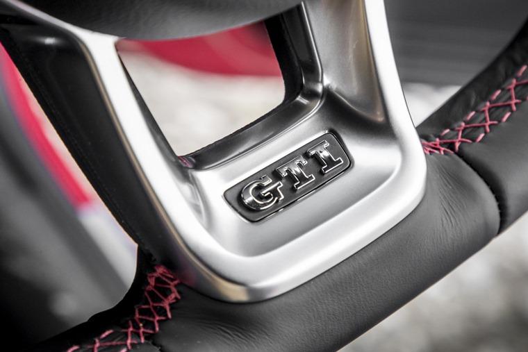 VW Up GTI steering wheel detail