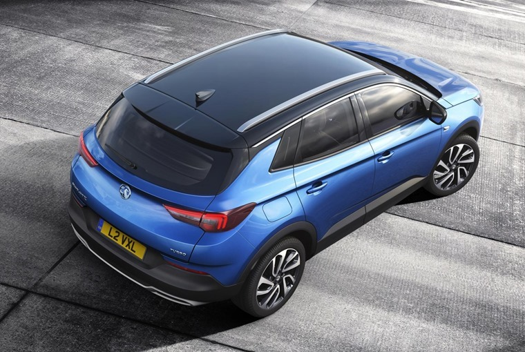 Vauxhall Grandland X top down