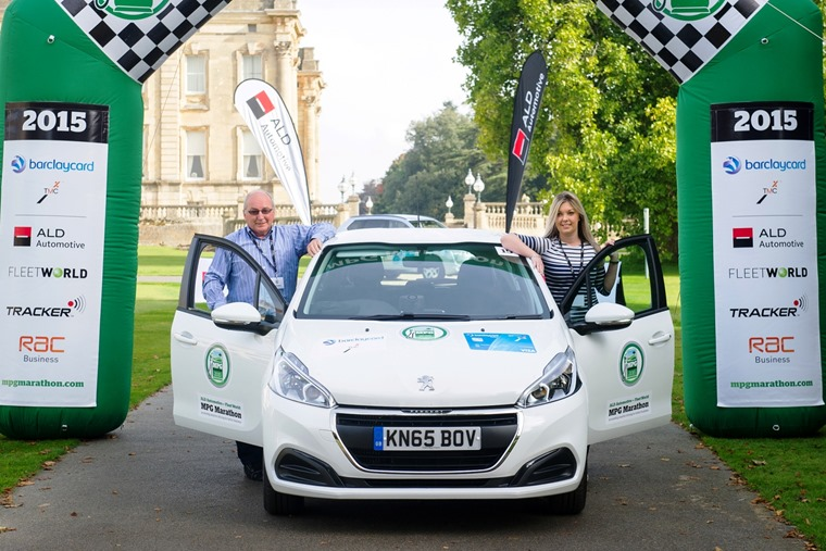2015's MPG Marathon winners - former professional motorsport manager and rally driver Mick Linford with part-time rally co-driver Jemma Champion