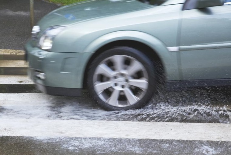 Standing water is more common in winter, resulting in aquaplaning.