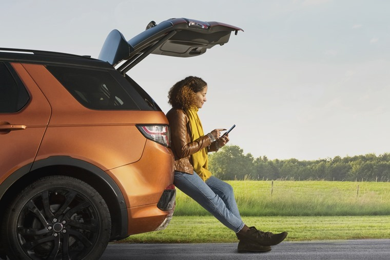 Woman with Discovery Sport